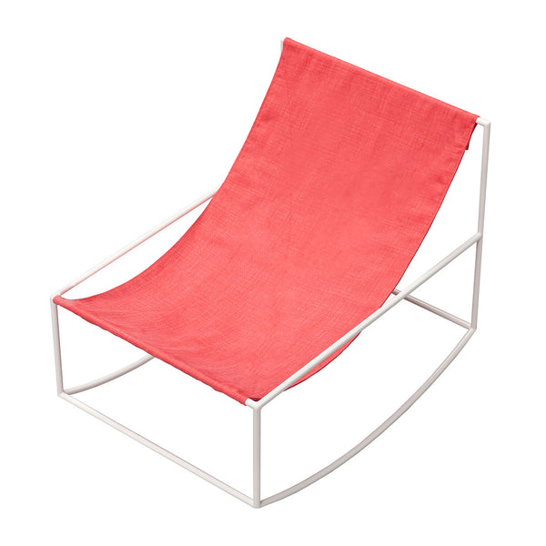 Valerie Objects 'Rocking Chair' by Muller van Severen White/Red