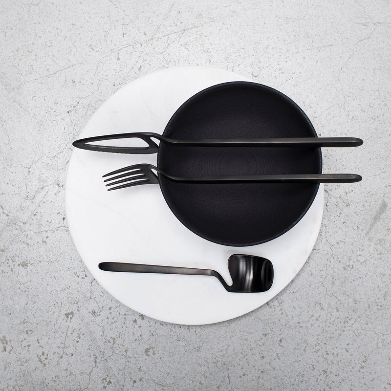 Valerie Objects Skeleton Cutlery by Nendo (16 Piece Set) Black Bowl
