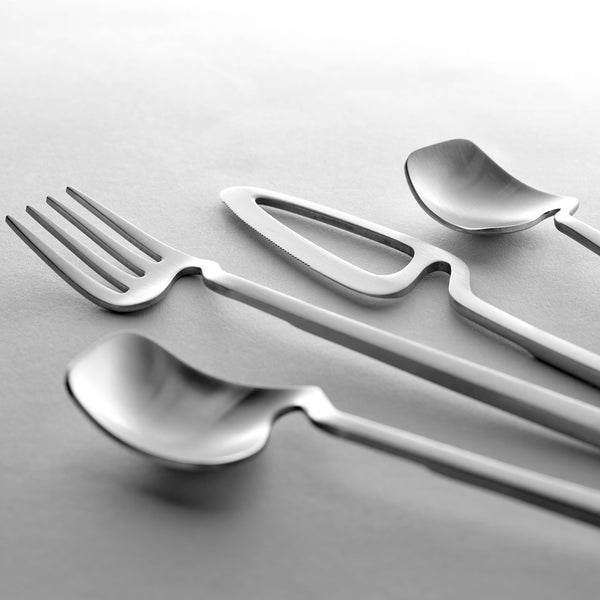 Valerie Objects Skeleton Cutlery by Nendo (16 Piece Set) Steel Detail