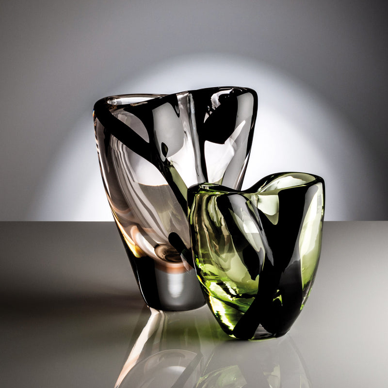 Venini 'Black 'Belt Otto Vase' by Peter Marino - Medium Mood