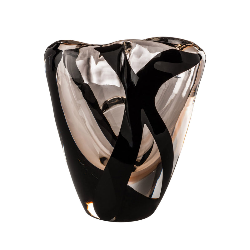 Venini 'Black 'Belt Otto Vase' by Peter Marino - Medium Light Pink