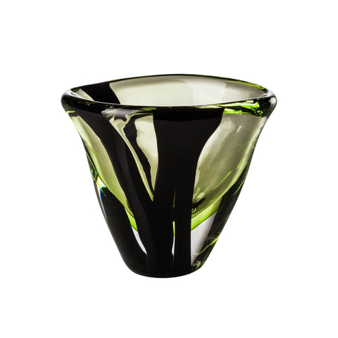 Venini Black Belt Ovale Vase - Extra Small
