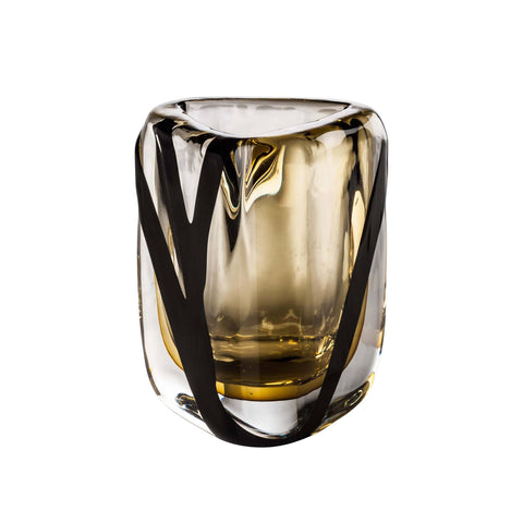 Venini Black Belt Triangolo Vase - Extra Small