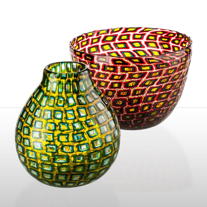Venini Murrine Romane Vase by Carlo Scarpa - Red Group