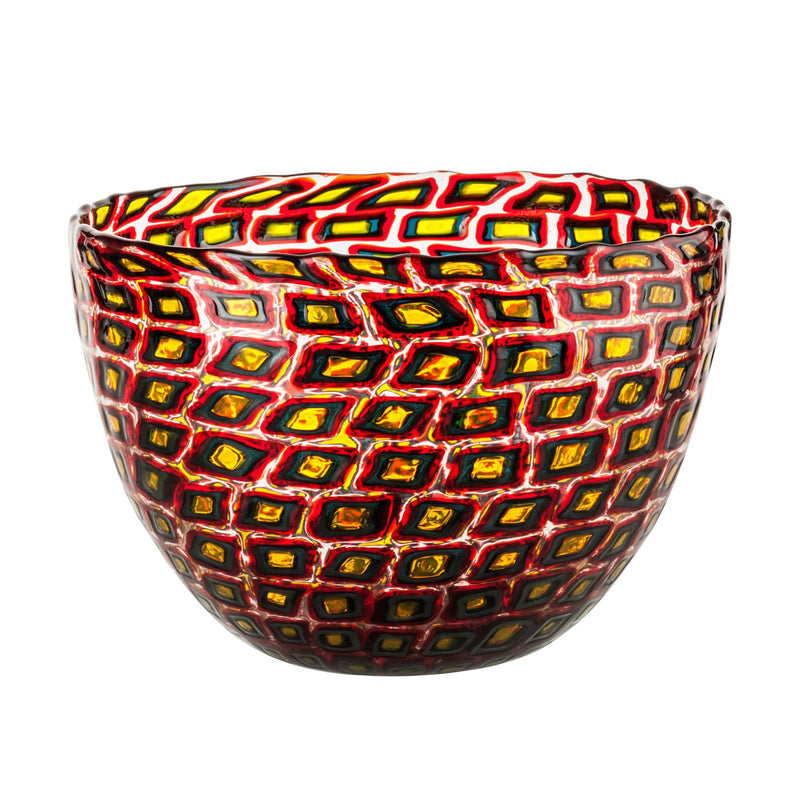 Venini Murrine Romane Vase by Carlo Scarpa - Red