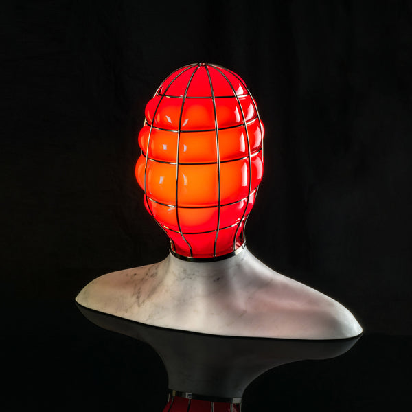 Venini Muse Table Lamp by Fabio Novembre - Red Blackout