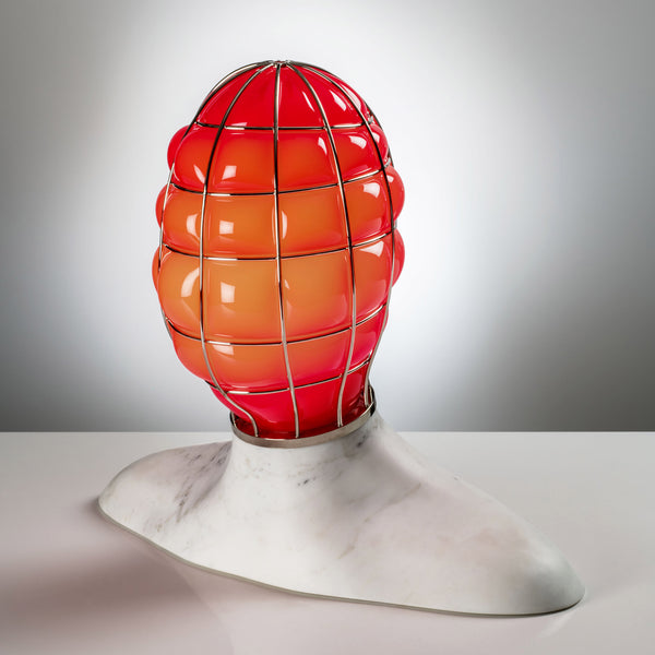 Venini Muse Table Lamp by Fabio Novembre - Red