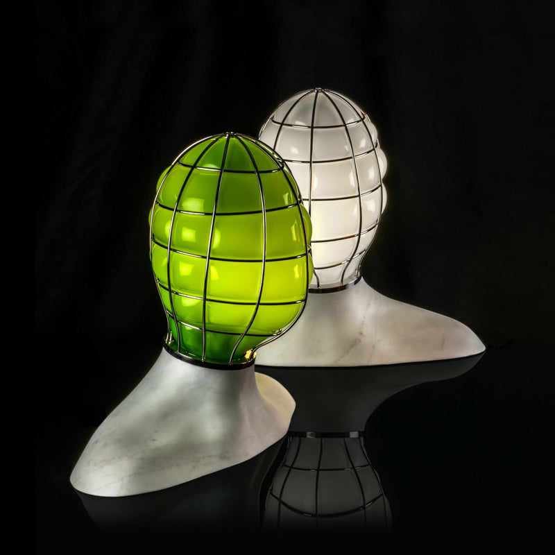 Venini Muse Table Lamp by Fabio Novembre - White Group