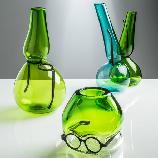 Venini Where Are My Glasses - Double Lens VaseGrass Green/Mint Green Group