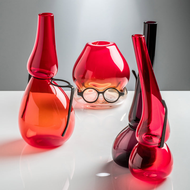 Venini Where Are My Glasses - Double Lens Vase Red/Violet Group