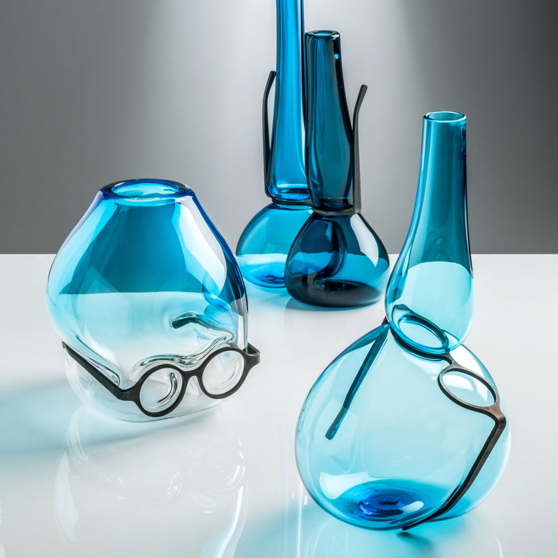 Venini Where Are My Glasses - Single Lens Vase by Ron Arad Aquamarine Group