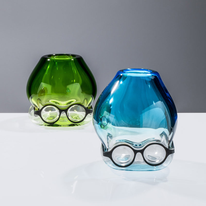 Venini Where Are My Glasses - Under Vase by Ron Arad Aquamarine Green Group