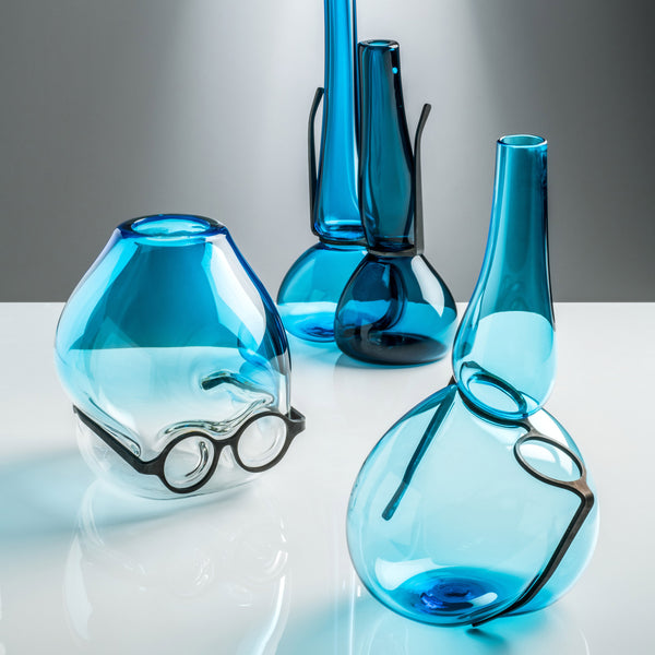 Venini Where Are My Glasses - Under Vase by Ron Arad Aquamarine Group
