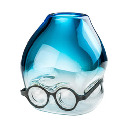 Venini Where Are My Glasses - Under Vase by Ron Arad Aquamarine