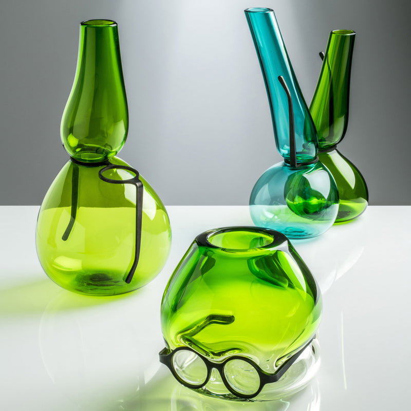 Venini Where Are My Glasses - Under Vase by Ron Arad Grass Green Group