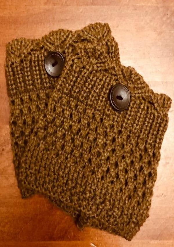 Brown boot cuff