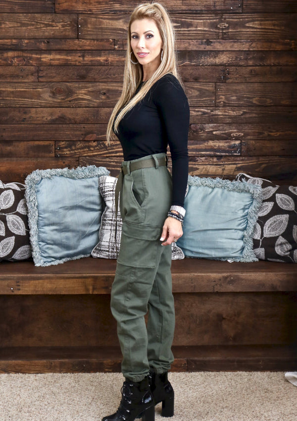 Olive Cargo Pants