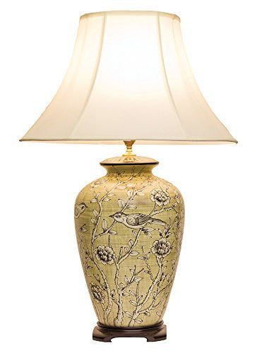 Birds and Flowers Chinese Table Lamp (Pair)