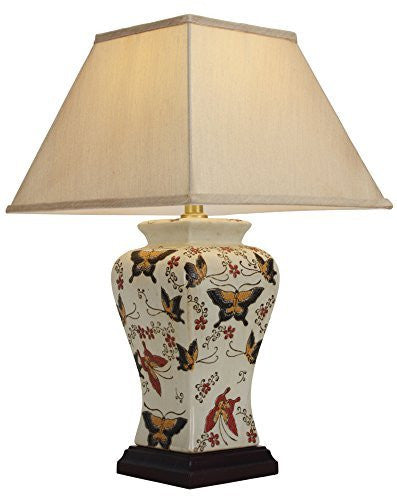 Butterfly Chinese Table Lamp (Pair)
