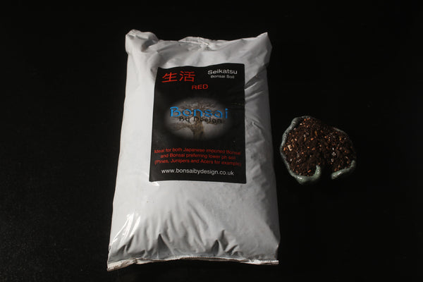 Seikatsu Red Bonsai soil-Our own Bonsai soil professionally mixed & graded 18 Lt
