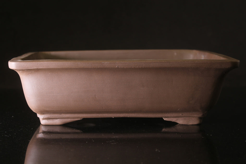 Unglazed Rectangular Bonsai pot - 29cm