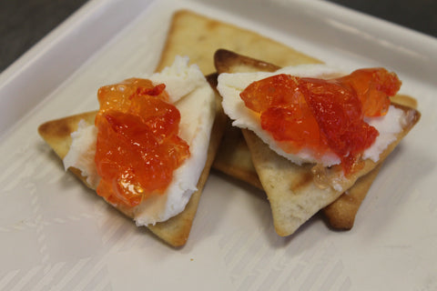 Pappy's Gourmet Sweet Red Pepper Jelly with Goat Cheese