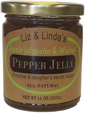Liz & Linda's Apple Jalapeno & Walnut Jelly