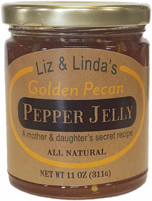 Liz & Linda's Golden Pecan Pepper Jelly