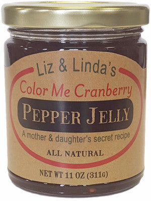 Liz & Linda's Color Me Cranberry Jalapeno Jelly
