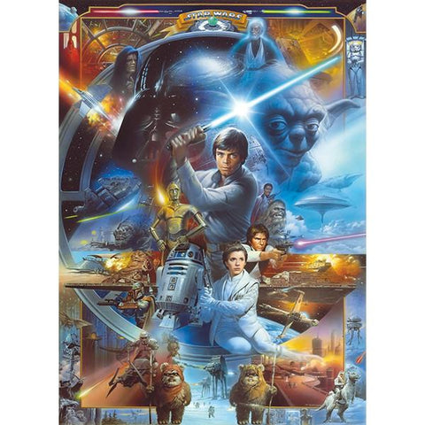 Star Wars Luke Skywalker Collage Mural