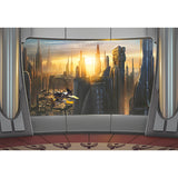 Star Wars Coruscant View Mural