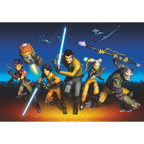 Star Wars Rebels Run Mural