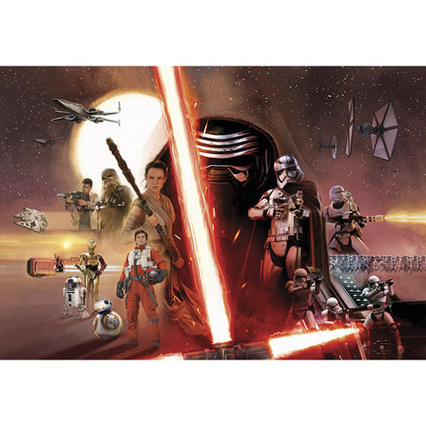 Star Wars EP7 Collage Mural