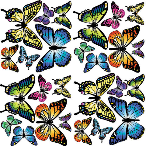 Butterflies Wall Art Sticker Kit