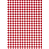 Red Gingham Peel And Stick Liner
