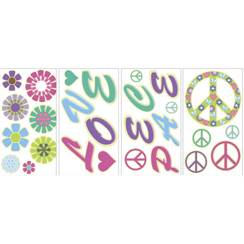 Peace & Love Glow in the Dark Wall Art Kit