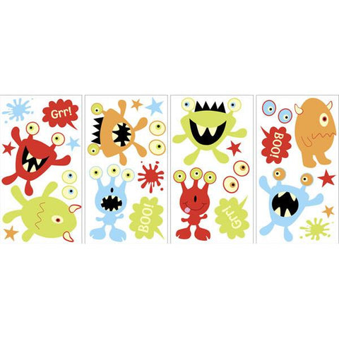 Monsters Glow in the Dark Wall Art Kit
