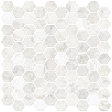 Hexagon Marble Peel & Stick Backsplash Tiles