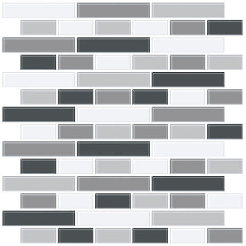 Smoked Glass Peel & Stick Backsplash Tiles