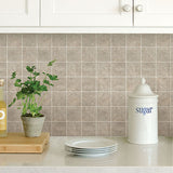 Travertine Squares Peel & Stick Backsplash Tiles