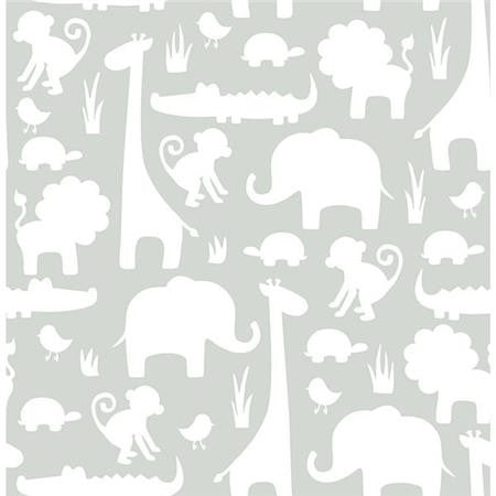 Gray Its A Jungle In Here Peel And Stick Wallpaper
