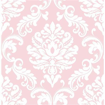 Pink Ariel Peel And Stick Wallpaper
