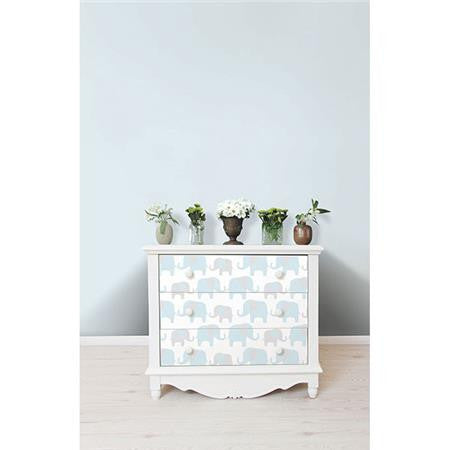 Blue Elephant Parade Peel And Stick Wallpaper By Wallpops