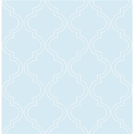 Blue Quatrefoil Peel And Stick Wallpaper