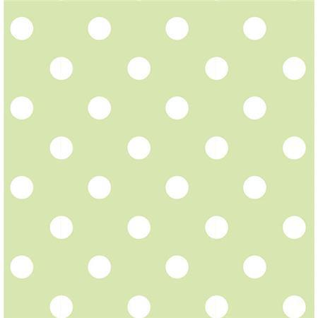 Green Dottie Peel And Stick Wallpaper