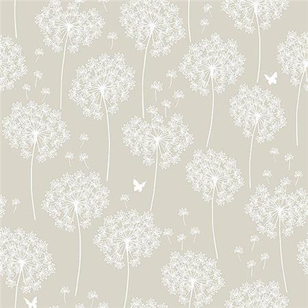 Dandelion Taupe Peel And Stick Wallpaper