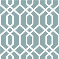 Montauk Lattice Hemlock Blue Peel and Stick Wallpaper