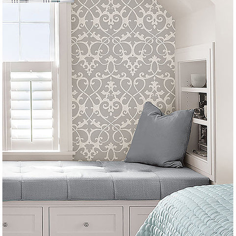 Ironwork Grey Peel And Stick Wallpaper By Wallpops