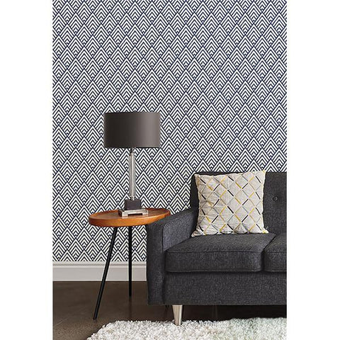 Arrowhead Deep Blue Peel and Stick Wallpaper - Special