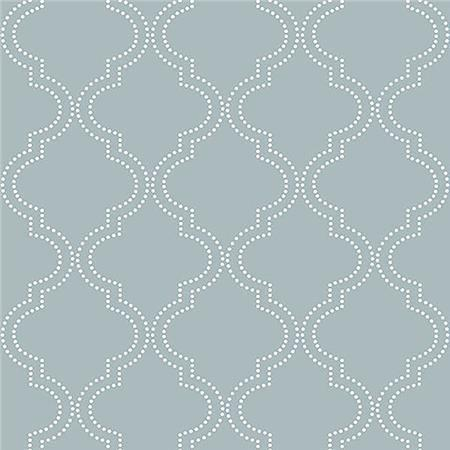 Slate Blue Quatrefoil Peel And Stick Wallpaper